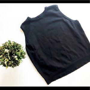 Womens Lands End Black Sweater Vest - Sz 2x 20-22